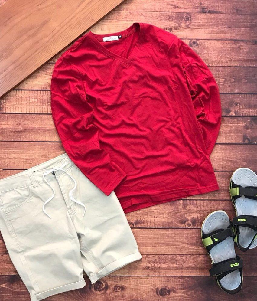áo thun nam tay dài và quần short