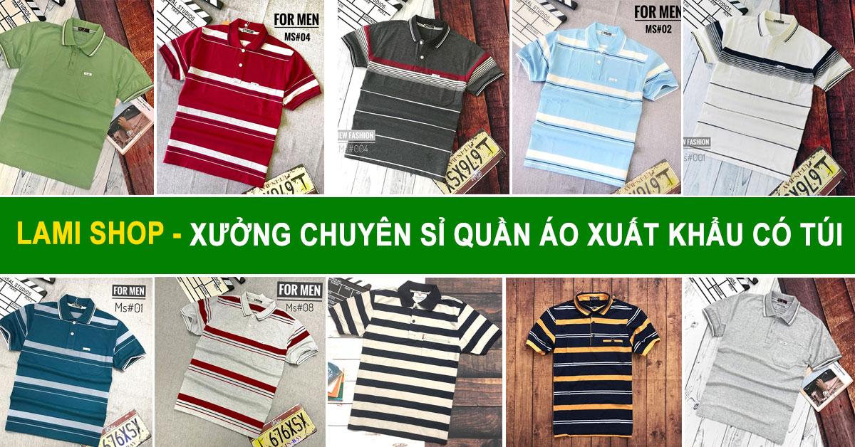 Xưởng chuyên sỉ quần áo xuất khẩu có túi