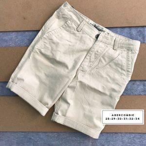 Sỉ sll quần short kaki 2 túi chéo trước với phần lưng dây thắt nịt trắng
