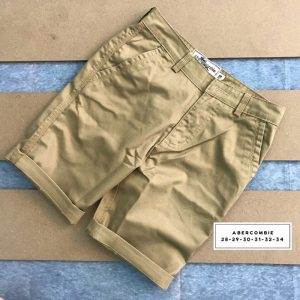 Sỉ sll quần short kaki 2 túi chéo trước với phần lưng dây thắt nịt xám vàng