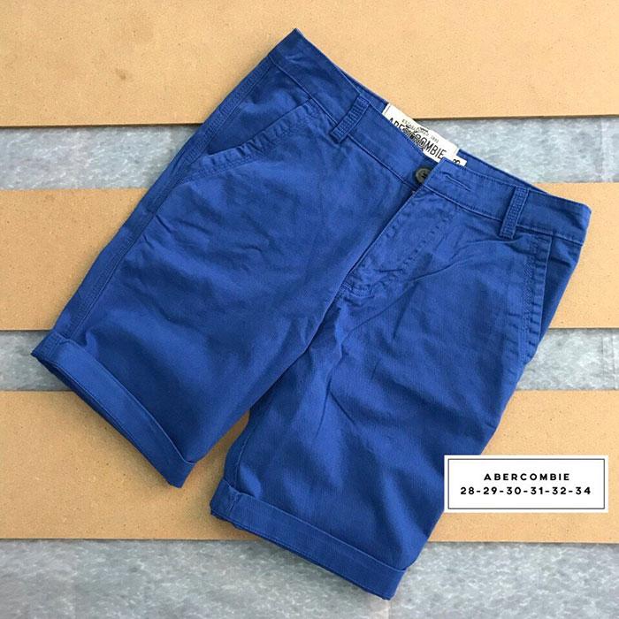 Sỉ sll quần short kaki 2 túi chéo trước với phần lưng dây thắt nịt xanh biển