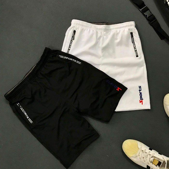 Quần thun nam thể thao 2 túi khóa kéo với chữ sports