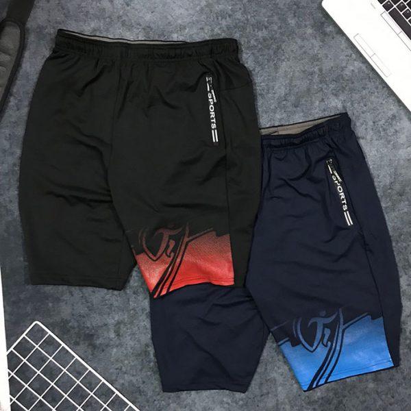 Quần short nam thể thao Sport cách điệu sắc màu ở ống phải giá sỉ