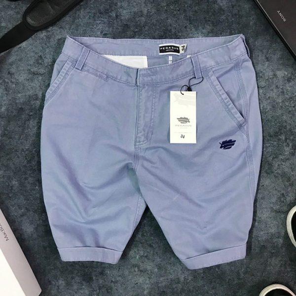 Quần short nam kaki 2 túi trước phối bo quần trẻ trung giá sỉ xanh tím