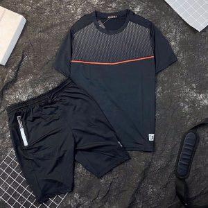 Set đồ bộ thể thao áo sport quần short đen