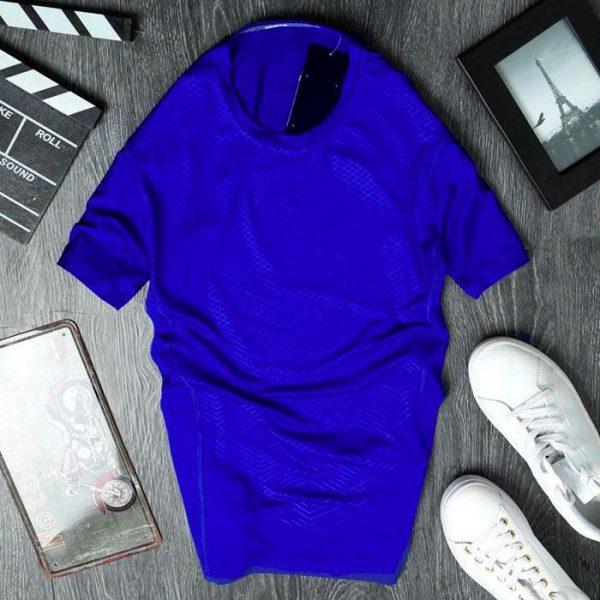 Áo thun nam cổ tròn AD198203 màu xanh dương