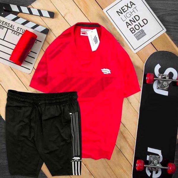 Đồ bộ thể thao nam Pegasus áo đỏ quần đen