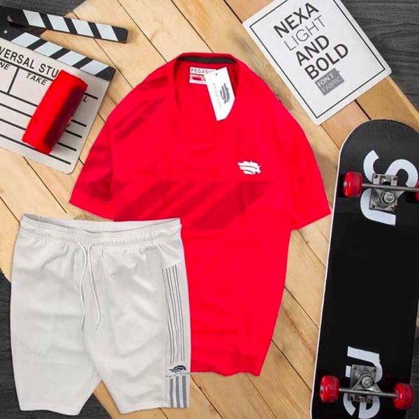 Đồ bộ thể thao nam Pegasus áo đỏ quần trắng