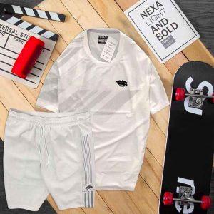 Đồ bộ thể thao nam Pegasus áo trắng quần trắng