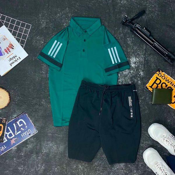 Set đồ thể thao AD áo xanh lá quần đen